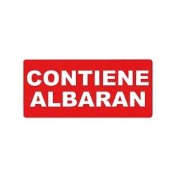 ETIQUETAS APLI ENVÍOS CONTIENE ALBARAN 0295