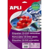 (L) ETIQUETAS APLI 10601 CD/DVD 117 PERMANENTE