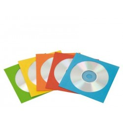 FUNDA CD/DVD PAPEL COLORES 50 UDS