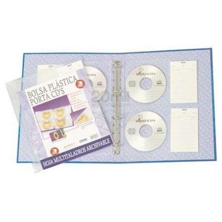 (L) FUNDA MULTITALADRO PARA 4 CD A4 B/3UDS.