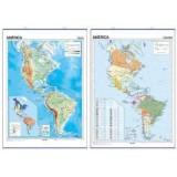 MAPA MURAL AMERICA NORTE Y SUR FISICO/POLITICO