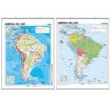 MAPA MURAL AMERICA DEL SUR FISICO/POLITICO