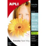 PAPEL APLI EVERYDAY 10X15CM. 180GRS 100H 11476