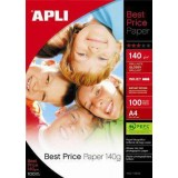 PAPEL APLI BEST PRICE GLOSSY 140 GRS A4 11804