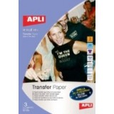 PAPEL TRANSFER CAMISETAS BRILLO APLI A4 10248