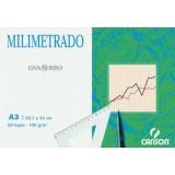 (L) PAPEL MILIMETRADO A4 12 H. 100 GR. TAMAÑO A4