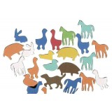 (L) FIGURAS DE GOMA EVA ANIMALES B/100 PZAS
