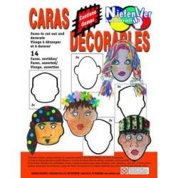(L) CARTON PARA DECORAR CARAS B/14