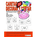 (L) CARTON PARA DECORAR CARETAS B/14