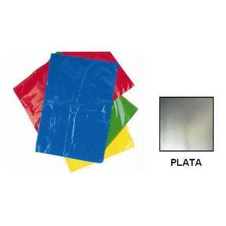 BOLSA DISFRACES PLASTICO 65X90 PLATA