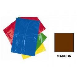 BOLSA DISFRACES PLASTICO 65X90 MARRON