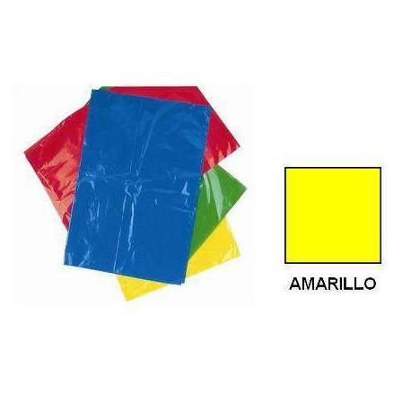 BOLSA DISFRACES PLASTICO 65X90 AMARILLA