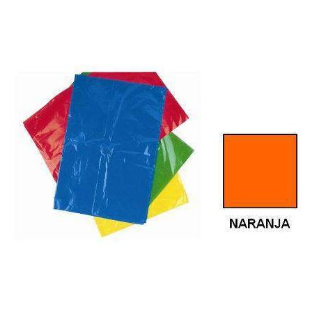 BOLSA DISFRACES PLASTICO 65X90 NARANJA