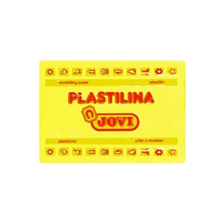 PLASTILINA JOVI GRANDE 350 GR AMARILLO CLARO