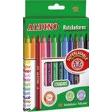 ROTULADOR ALPINO STANDARD SUPERLAVABLE 12 COLORES