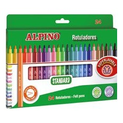 ROTULADOR ALPINO STANDARD SUPERLAVABLE 24 COLORES
