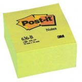 NOTAS ADHESIVAS POST-IT 76X76 CUBO AMARILLO