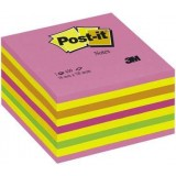 NOTAS ADHESIVAS POST-IT 76X76 CUBO CARAMELO NEON