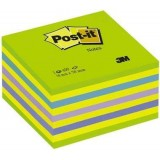 NOTAS ADHESIVAS POST-IT 76X76 CUBO NEON VERDE