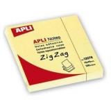NOTAS ADHESIVAS ZIG-ZAG APLI 76X76 MM