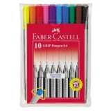 (L) ROTULADOR FABER CASTELL GRIP FINEPEN SET 10 CO