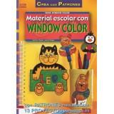 LIBRO PATRONES: MATERIAL ESCOLAR CON WINDOW COLOR