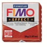 (L) PASTA DE MODELAR FIMO EFFECT PURPURINA ROJA