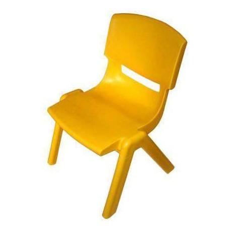 Silla ergonomica escolar 40 cm amarilla for Silla escolar ergonomica