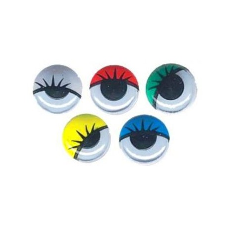 OJOS MOVILES RED ADHES 10 MM 100 UDS COLORES