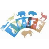 PLANTILLAS TRANS DOBLES 6 UDS ANIMALES SALVAJES